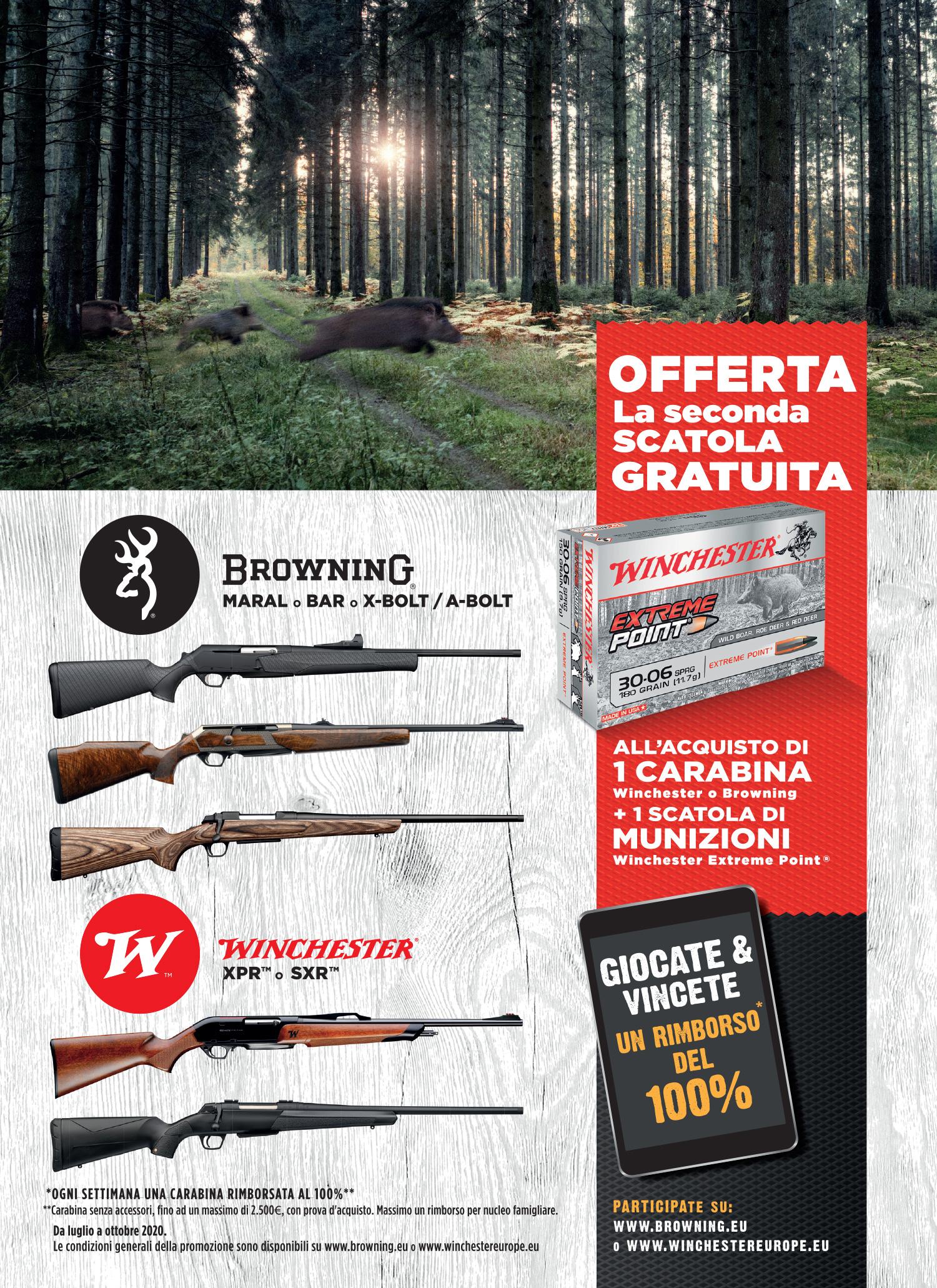 Promozione : offerta la seconda scatola di munizioni gratuita